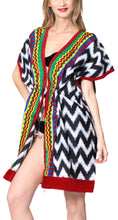 Load image into Gallery viewer, la-leela-cotton-printed-swimsuit-tassel-cover-up-osfm-14-32-l-5x-black_2156-black_p918