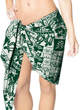 Load image into Gallery viewer, la-leela-likre-swimwear-casual-pareo-women-sarong-printed-72x21-green_346-green_m94