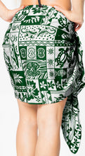 "Load image into Gallery viewer, LA LEELA Likre Swimwear Casual Pareo Women Sarong Printed 72""X21"" Green_346 Green_M94"