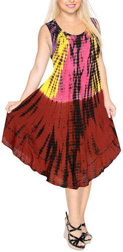la-leela-rayon-tie-dye-casual-luau-boho-short-tube-dress-beach-cover-upes-osfm-14-20-l-2x-maroon_4586