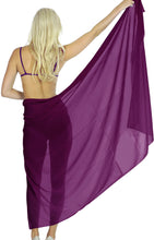 Load image into Gallery viewer, la-leela-sheer-chiffon-cover-up-wrap-sarong-solid-72x42-dark-purple_1751