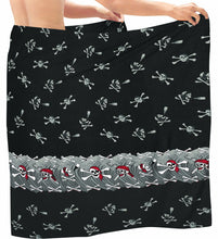 Load image into Gallery viewer, la-leela-men-sarong-soft-light-printed-nightwear-pareo-lungi-boys-wrap-72x42-black_3027