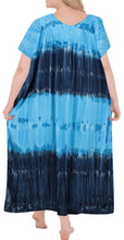 Load image into Gallery viewer, la-leela-rayon-tie-dye-wedding-tunic-long-women-casual-dress-beach-cover-up-light-blue-3340-one-size