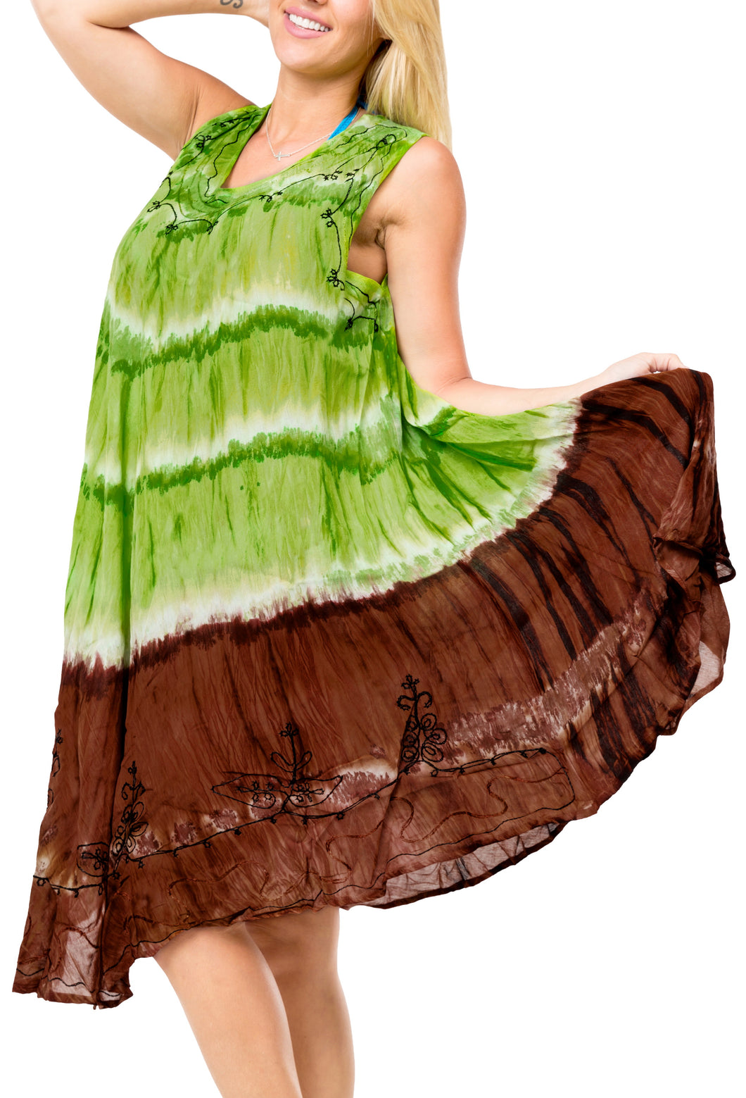 la-leela-rayon-tie-dye-party-swimsuit-tube-casual-dress-beach-cover-upes-osfm-14-20-l-2x-parrot-green_3673