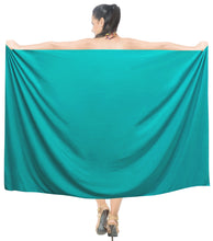Load image into Gallery viewer, la-leela-rayon-long-swim-tie-pareo-women-beach-sarong-solid-78x39-green_3948-green_g168