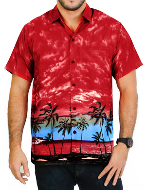 la-leela-shirt-casual-button-down-short-sleeve-beach-shirt-men-aloha-pocket-Shirt-Blood Red_W11