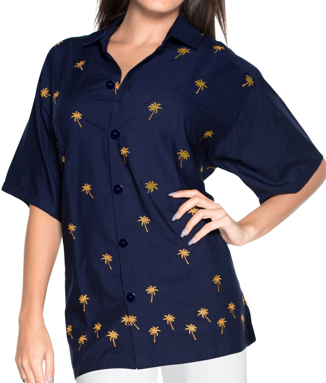 la-leela-womens-beach-casual-hawaiian-blouse-short-sleeve-button-down-shirt-navy-blue-aloha