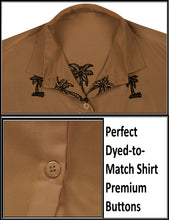 Load image into Gallery viewer, la-leela-womens-beach-casual-hawaiian-blouse-short-sleeve-button-down-shirt-brown