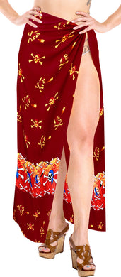 La Leela Soft Light Long Swim Dress Beach Girl Sarong Printed 78