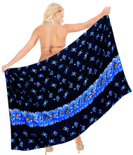 Load image into Gallery viewer, la-leela-soft-light-cover-up-swim-wrap-sarong-printed-78x39-bright-blue_2790