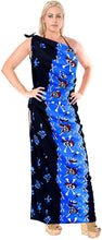 Load image into Gallery viewer, la-leela-soft-light-bathing-suit-women-sarong-printed-88x42-bright-blue_2524