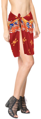 La-Leela-Soft-Light-Long-Swim-Women's-Skull-Halloween-Costume-Swimsuit-Pareo-Cover-Ups-Beach-Sarong-Blood Red_Q70