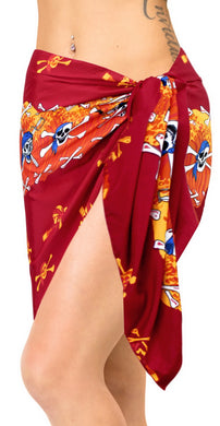 la-leela-likre-swimsuit-wrap-pareo-girl-beach-sarong-printed-72x21-red_331