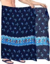 Load image into Gallery viewer, la-leela-beach-wear-mens-sarong-pareo-wrap-cover-upss-bathing-suit-beach-towel-swimming-Blue_Q63