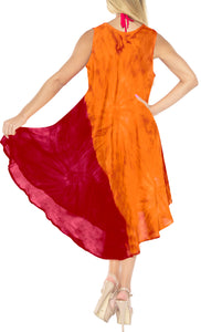 la-leela-rayon-tie-dye-beach-womens-casual-dress-beach-cover-up-wear-orange-647-plus-size