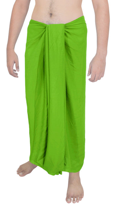 la-leela-men-sarong-rayon-solid-casual-bathing-swimsuit-mens-78x39-parrot-green_6554