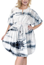 Load image into Gallery viewer, la-leela-cotton-tie_dye-short-caftan-vacation-girls-pink_3618-osfm-14-28w-l-4x