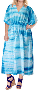 la-leela-rayon-tie_dye-caftan-beach-dress-swimwear-OSFM 14-18W [L- 2X]-Blue_T877