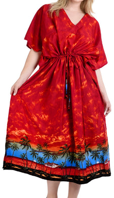 la-leela-soft-printed-kaftan-maxi-nightgowns-womens-orange-73-one-size-orange_n883