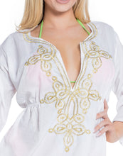 Load image into Gallery viewer, la-leela-womens-beach-cover-up-blouse-top-white_n826-osfm-8-14-white_n826
