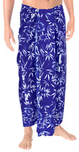Load image into Gallery viewer, la-leela-men-sarong-soft-light-printed-aloha-party-hawaiian-mens-72x42-royal-blue_2749