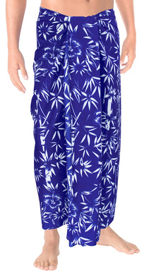 LA LEELA Men Sarong Soft Light Printed Aloha Party Hawaiian Mens 72