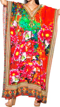 Load image into Gallery viewer, la-leela-soft-digital-womens-beach-wear-maxi-caftan-top-multi-205-one-size-multicolor_v570