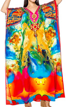 Load image into Gallery viewer, la-leela-lounge-likre-digital-long-caftan-top-girl-multicolor_768-osfm-14-22w-l-3x