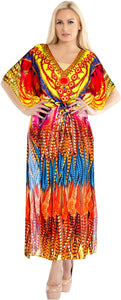 la-leela-lounge-likre-digital-long-caftan-beach-dress-OSFM 14-22W [L- 3X]-Multicolor_V555