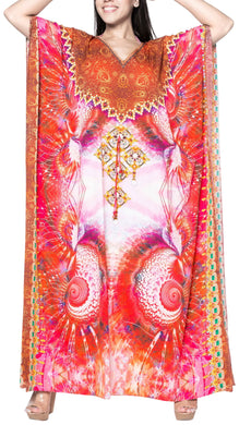 la-leela-lounge-likre-digital-long-caftan-beach-dress-OSFM 14-22W [L- 3X]-Multicolor_V549