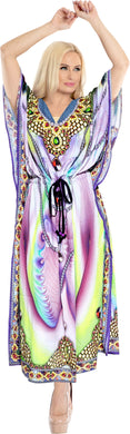 la-leela-lounge-likre-digital-long-caftan-beach-dress-OSFM 14-22W [L- 3X]-Multicolor_V546