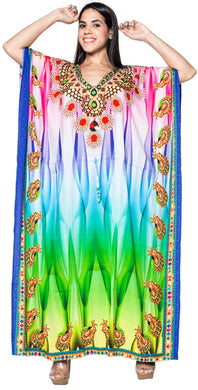 la-leela-lounge-likre-digital-long-caftan-beach-dress-OSFM 14-22W [L- 3X]-Multicolor_V543