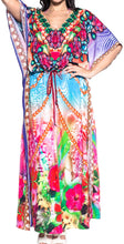 Load image into Gallery viewer, la-leela-lounge-soft-digital-caftan-cruise-womens-long-top-multi-191-one-size