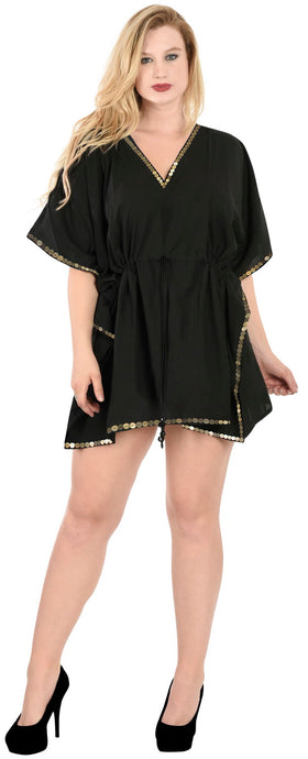 la-leela-bikini-swim-beach-wear-swimsuit-cover-ups-women-caftan-dress-solid-OSFM 16-28W [XL- 4X] Halloween Black_K825