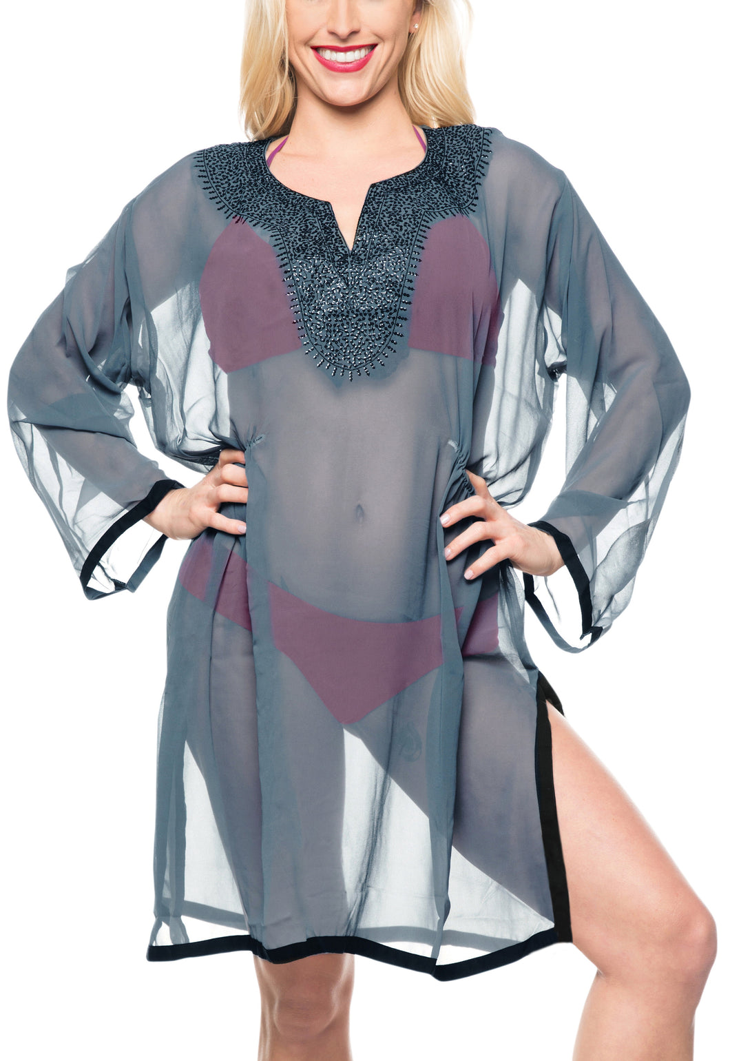 la-leela-swimwear-chiffon-solid-bikini-cover-up-swimsuit-osfm-8-18-m-xl-grey_592