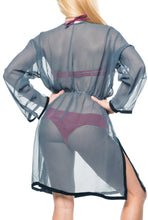 Load image into Gallery viewer, la-leela-swimwear-chiffon-solid-bikini-cover-up-swimsuit-osfm-8-18-m-xl-grey_592