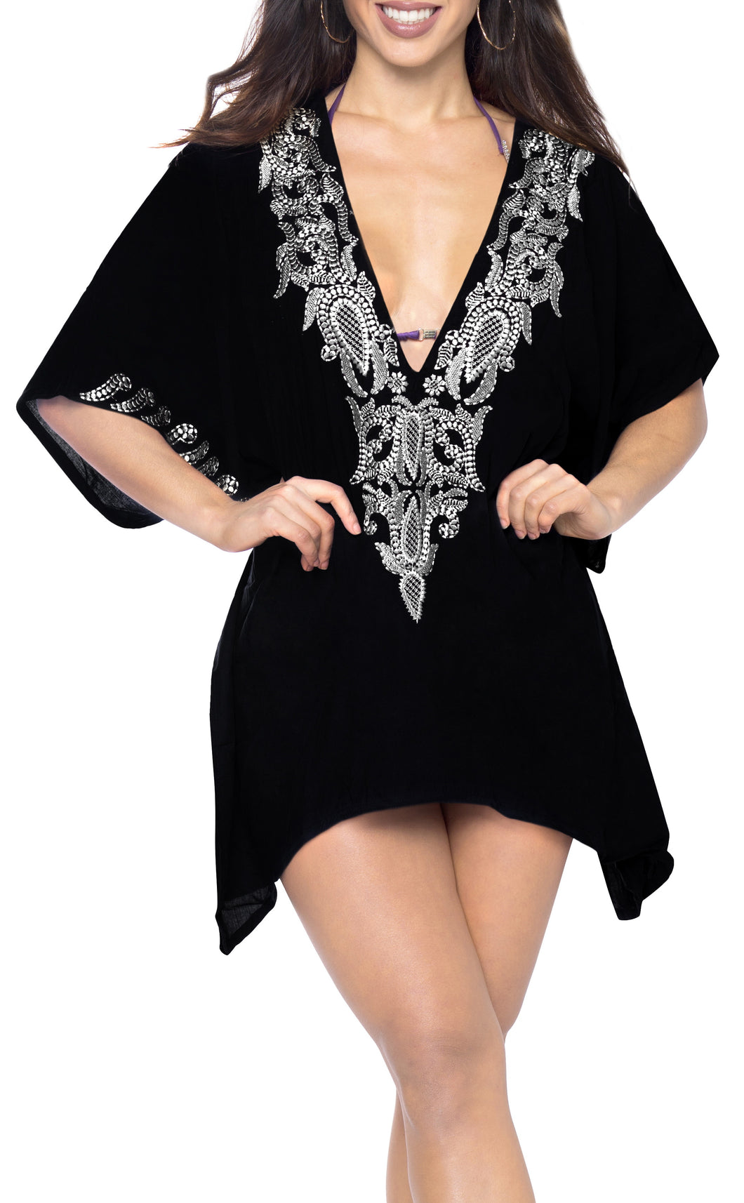 la-leela-bikni-swimwear-rayon-solid-cover-up-blouse-women-osfm-10-16-m-1x-black_2749