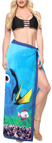 LA LEELA Sheer Chiffon Swim Pareo Women Sarong Digital 78