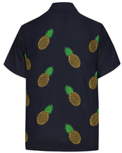 Load image into Gallery viewer, la-leela-mens-beach-hawaiian-casual-aloha-button-down-short-sleeve-shirt-navy-blue_w854