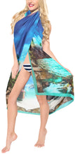 Load image into Gallery viewer, la-leela-sheer-chiffon-swimsuit-cover-up-sarong-digital-78x39-royal-blue_1343-blue_n369