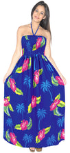 Load image into Gallery viewer, la-leela-evening-beach-swimwear-soft-printed-backless-cover-up-tube-dress-royal-blue-363-one-size