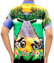 Load image into Gallery viewer, la-leela-mens-casual-beach-hawaiian-shirt-aloha-tropical-beach-front-pocket-short-sleeve-violet