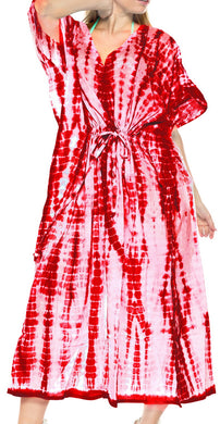 la-leela-rayon-tie_dye-caftan-beach-dress-swimwear-OSFM 14-18W [L- 2X]-Blood Red_N768