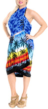 Load image into Gallery viewer, la-leela-swimwear-soft-light-bathing-women-wrap-swimsuit-sarong-printed-88x42-royal-blue_3057