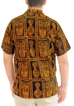 Load image into Gallery viewer, LA LEELA Men Casual Beach hawaiian Shirt for Aloha Tropical Beach  front Pocket Short sleeve Yellow