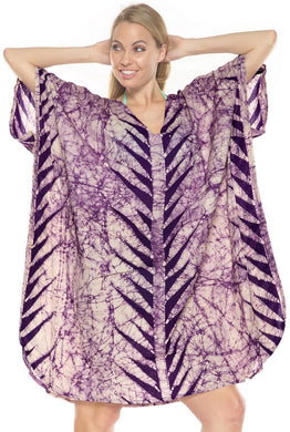 la-leela-cotton-batik-short-caftan-vacation-top-purple_3939-osfm-14-18w-l-2x