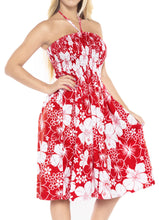 Load image into Gallery viewer, la-leela-evening-beach-swimwear-soft-printed-womens-work-casual-stretchy-tube-dress-red_843-one-size