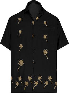 la-leela-mens-beach-hawaiian-casual-aloha-button-down-short-sleeve-shirt-Halloween Black_W840