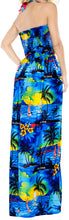 Load image into Gallery viewer, la-leela-evening-beach-swimwear-soft-printed-cover-up-womens-swimsuit-tube-dress-blue-421-one-size