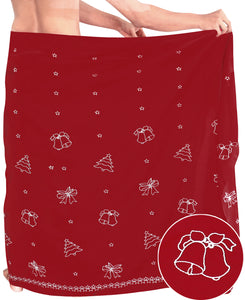 "LA LEELA Christmas santa Solid Beach wear Swim Bathing Mens 72""X42"" Red_6653"